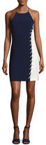 Parker Florence Sleeveless Lace-Up Colorblock Fitted Dress, Aquarius