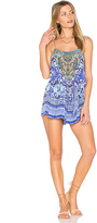 Camilla Shoestring Romper in Blue. - size L (also in )