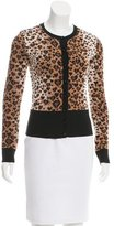 RED Valentino Leopard Pattern Cardigan w/ Tags