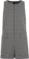 Giambattista Valli Checked cotton playsuit