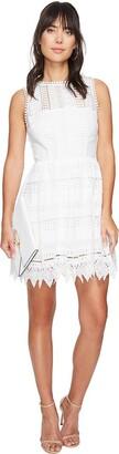 BB Dakota Women's Elissa Lace Fit-n-Flare Dress