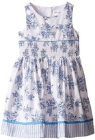 Us Angels Cotton Poplin Tank Dress w/ Smock Waist & Full Skirt (Toddler/Little Kids)
