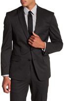 John Varvatos Pindot Two Button Peak Lapel Suit Separates Jacket