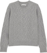 Chinti and Parker Cable-knit Merino Wool And Cashmere-blend Sweater - Gray