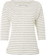 White Stuff Shimmer Stripe Jersey Tee