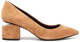 Alexander Wang Women's Simona Suede Block Heeled Court Shoes Clay
