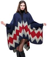 So'each Women's Cashmere Oversized Blanket Poncho Cape Shawl Long Cardigans Coat