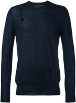 Alexander McQueen distressed jumper - men - Silk/Wool - S