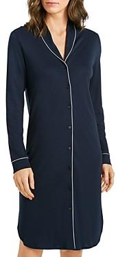 Hanro Natural Comfort Long Sleeve Sleep Shirt