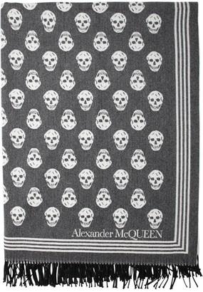 Alexander McQueen Jacquard Wool & Cashmere Scarf