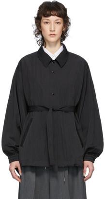 Fumito Ganryu Black Kimono Coach Jacket
