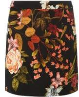 Dorothy Perkins Womens Black Floral Print Mini Skirt