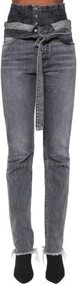 Unravel Corset Straight Leg Cotton Denim Jeans