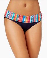 Anne Cole Triangle Striped Foldover Bikini Bottoms