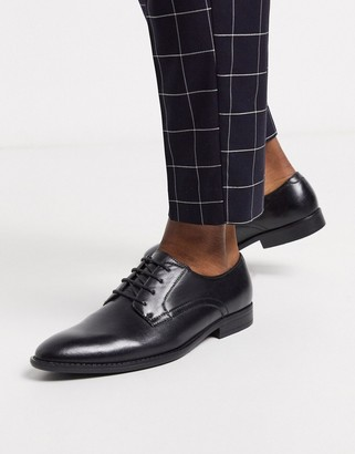 ASOS DESIGN derby shoes in black faux leather