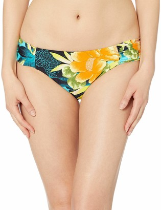 Lucky Brand Women's Side Shirred Pant Bikini Bottom