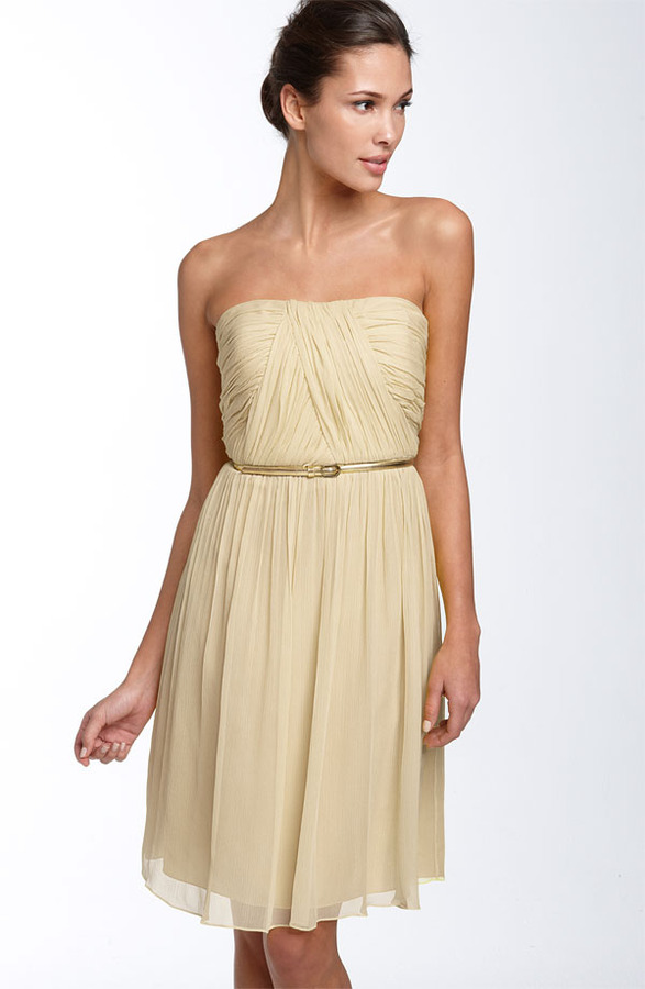 Donna Morgan Belted Chiffon Dress