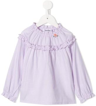 Familiar ruffle trimmed blouse