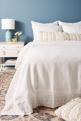 Pom Pom at Home Layla Linen Duvet Cover By in White Size Q top/bed