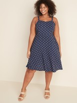 Old Navy Printed Fit & Flare Plus-Size Cami Dress