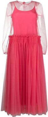 Molly Goddard Sheer Tulle Midi Dress