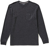 Roundtree & Yorke Soft Washed Long-Sleeve Heathered Pocket Crew Tee