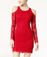 Jump Juniors' Lace Cold-Shoulder Bodycon Dress
