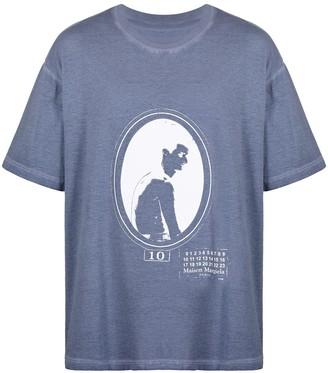 Maison Margiela number-print cotton T-shirt