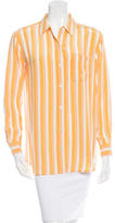 Equipment Striped Silk Top