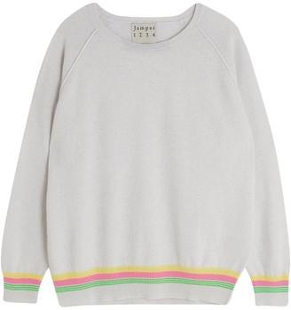 Jumper 1234 - Mini Super Stripe Sweater In Greige - XS