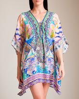 Camilla Gaudi Tribute Short Lace-Up Kaftan