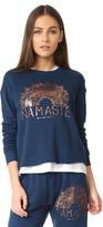 Spiritual Gangster Namaste Sun Rays Crop Sweatshirt