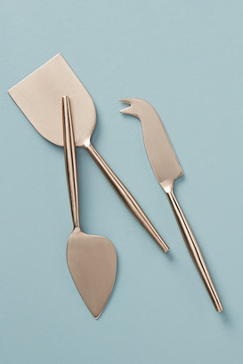 Anthropologie Rose Cheese Knives, Set of 3 By in Brown Size SET OF 3
