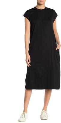 Cotton Emporium Knit Split Hem Midi Dress