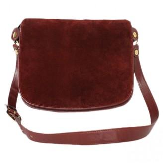 Cartier Burgundy Suede Handbags