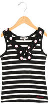 Junior Gaultier Girls' Striped Scoop Neck Top w/ Tags