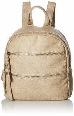 Bueno of California Women's Bueno Faux Leather Washed Vintage Parchment Back Pack