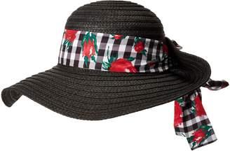 Betsey Johnson Women's Gingham Floppy Hat