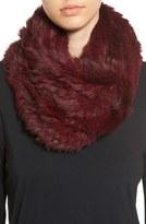 Jocelyn Women's Genuine Rabbit Fur Infinity Scarf