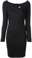 Versace draped sheath dress