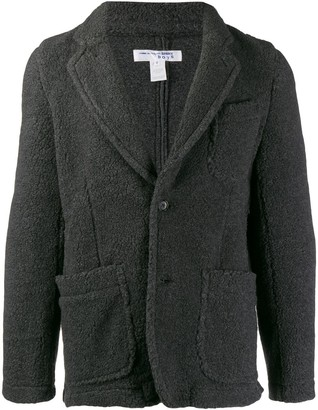 Comme des Garcons Boys textured single breasted blazer