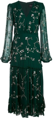 Saloni Devon embellished silk dress