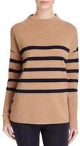 Basler Striped Mock Neck Sweater