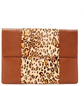 Helen Kaminski Lynx Genuine Calf Hair Leather Clutch