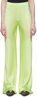 Rosetta Getty Green Satin Trousers