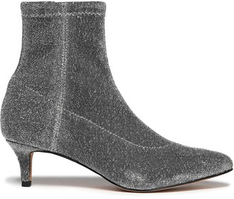 Rebecca Minkoff Metallic Stretch-knit Ankle Boots