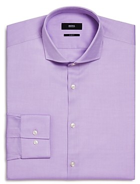 BOSS Jason Textured Solid Slim Fit Dress Shirt