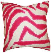 Kim Salmela Zebra 20x20 Linen-Blend Pillow, Pink