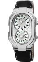 Philip Stein Teslar Men's Signature Mother Of Pearl Dial Dual Time Quartz Watch 2-NFMOP-CSTB