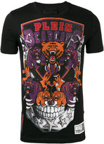 Philipp Plein embellished patch T-shirt - men - Cotton/Crystal - M